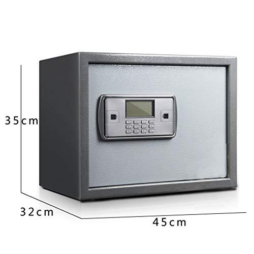 ZHEDYI Home Klein Veilig, 26 / 35cm Office Password Key Safe, Anti-diefstal Brandveilig voor het invoeren van de kast, Intelligente Dual Alarm Apparaat voor Onzichtbare Kluis