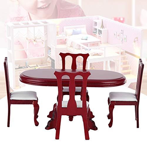 Muebles de casa de muñecas, Superficie Lisa inofensiva sin Rebabas Muebles de casa de muñecas de Juguete, no tóxico, Elegante y Hermoso para la decoración del hogar