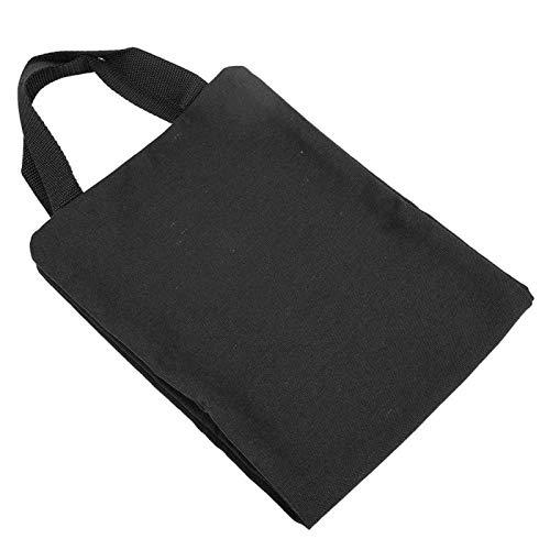 DAUERHAFT Wasserdichtes Training Freeweight Bag Sandsack mit Reißverschluss für Fitness(Black)