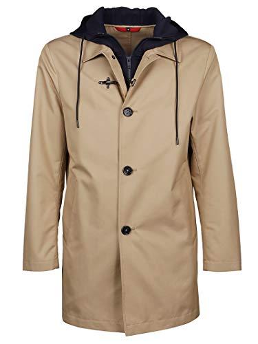 Fay Luxury Fashion Herren NAM62400160RPF0846 Beige Polyamid Mantel | Ss21