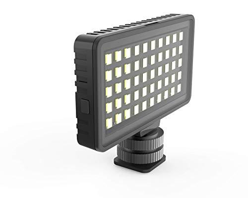 DigiPower LED-Videolicht mit 3 Beleuchtungsmodi und 3 Farbfiltern, 50 LED-Leuchten, inklusive universeller Handyhalterung, DSLR-Kameras, Action Cams und Videokameras, DP-VL50