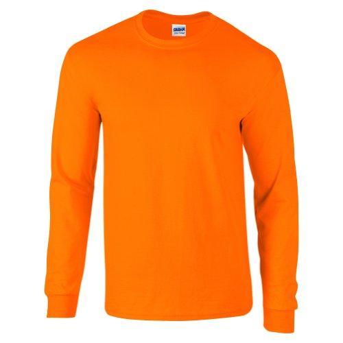 Gildan Camiseta de manga larga para hombre de algodón ultra suave - Anaranjado - Medium