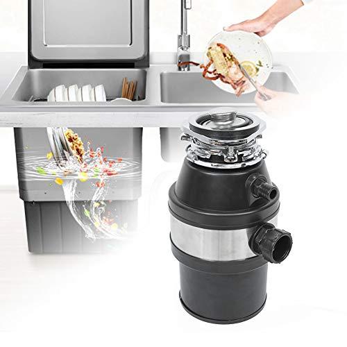 Tritarifiuti alimentari da cucina,TritaRifiuti Dissipatore Dispositivo di smaltimento dei rifiuti da cucina con interruttore aria, in acciaio