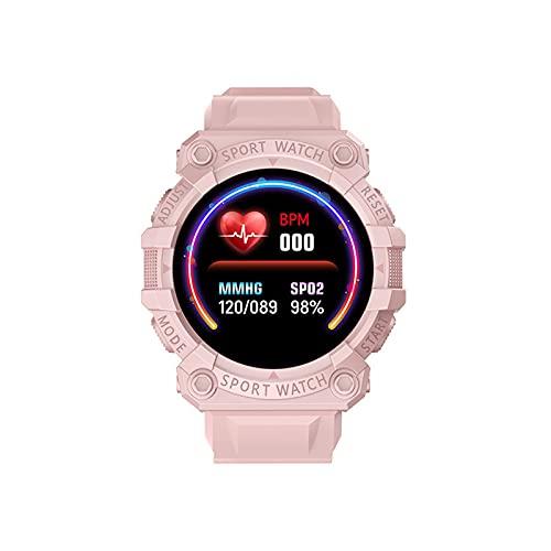 LEEDY Smartwatch Sportuhr, Multifunktionsuhr 1,44 Zoll Runder Bildschirm Gebogener Bildschirm Bluetooth IP67 Wasserdicht Touchscreen Smart Watch Uhr für Damen Herren
