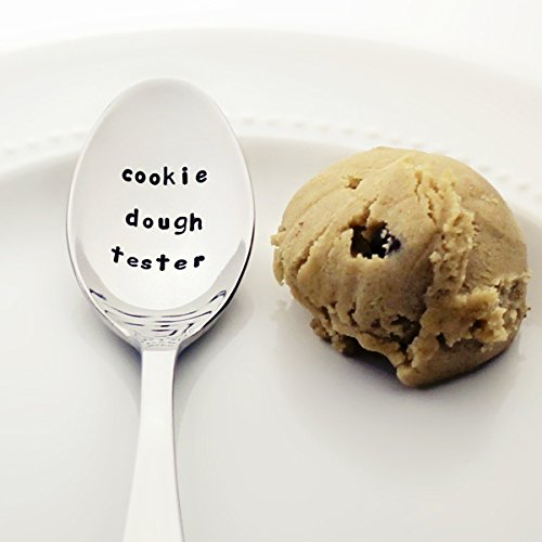 Cookie Dough Tester (Option to Personalize with a Name) - Stainless Steel Stamped Spoon, Stamped Silverware - Unique Kitchen Accessory | Foodie Gifts for Kids