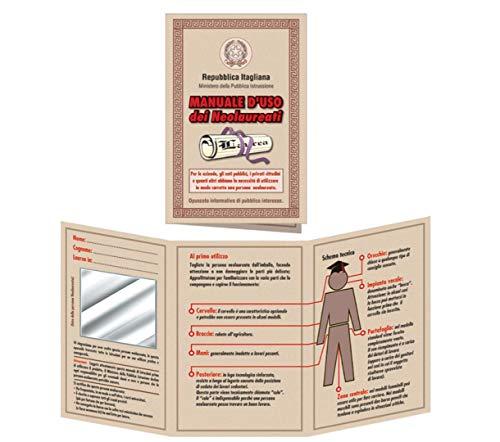 Bombo Biglietto Auguri Laurea Manuale d'uso laureati