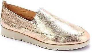 Leather Platform Slip On Shoes