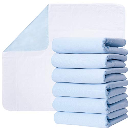 Washable Underpads, Pack of 6 Large Bed Pads, 34