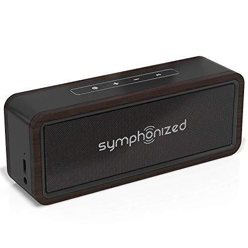 Symphonized NXT 2.0 Bluetooth Wireless Tragbare Lautsprecher Dual-Driver Audio Player Inklusive AUX-Kabel für Nutzung mit Kabel Universelle Kompatibilität (Schwarz)