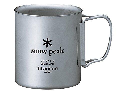 スノーピーク(snow peak) チタン ダブルマグ 220 [容量220ml] フォールディングハンドル MG-051FHR