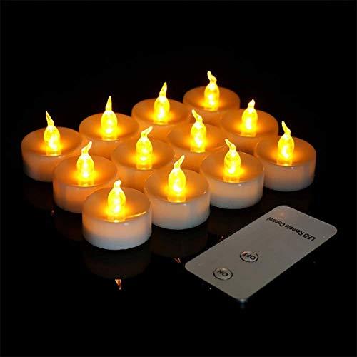 60 LED-kaarsen, kerstkaarsen lichtsnoer, Kerstmis snoerloos met afstandsbediening, kaarslicht vlamloze kerstkaarsen voor kerstboom, kerstdecoratie, bruiloft, feest
