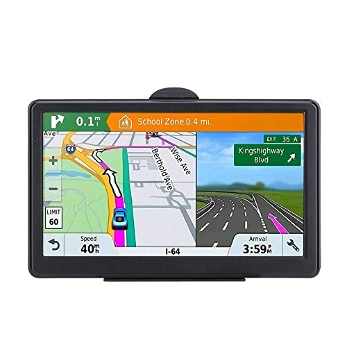 7 Inch GPS Navigation for Car Truck with 2021 Americas Map Free Lifetime Map Update Includes Postcodes& POI Speed Cam Alerts Lane Assist Guidance