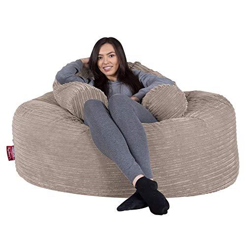 Lounge Pug®, 'Mammoth' Sofa Sitzsack XXL, Riesen Sessle, Cord Nerzfarben