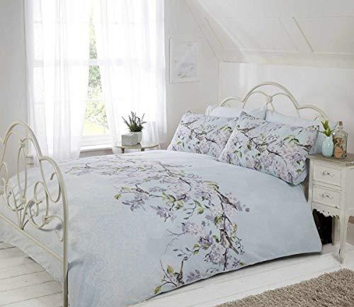 Eloise Duvet Cover Set, Polyester-Cotton, Duck Egg, Single
