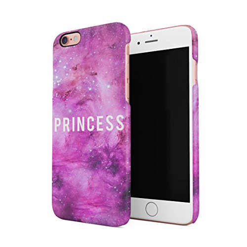 Princess Queen Daddy's Babygirl Rose Stars Galaxy Milkyway Custodia Posteriore Sottile in Plastica Rigida Cover per iPhone 6 Plus & iPhone 6s Plus Slim Fit Hard Case Cover