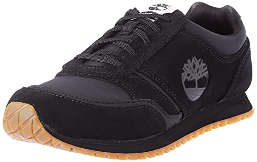 Timberland Lufkin Fabric and Leather Oxford Basic, Basket Homme, Black Suede, 44 EU