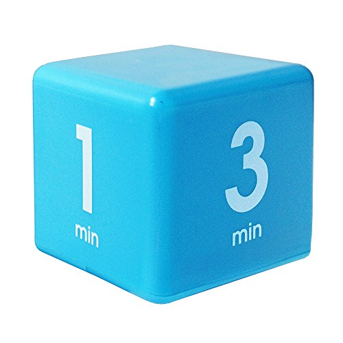 The Miracle TimeCube Timer, 10, 20, 30, and 60 Seconds, for High Intensity Workouts, HIIT Training, Aerobic Improvement, Navy Blue
