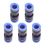 DEVMO 5PCS 4mm to 6mm Tube Air Pneumatic Push in Straight Gas Fittings Plastic Quick Connectors Fitting