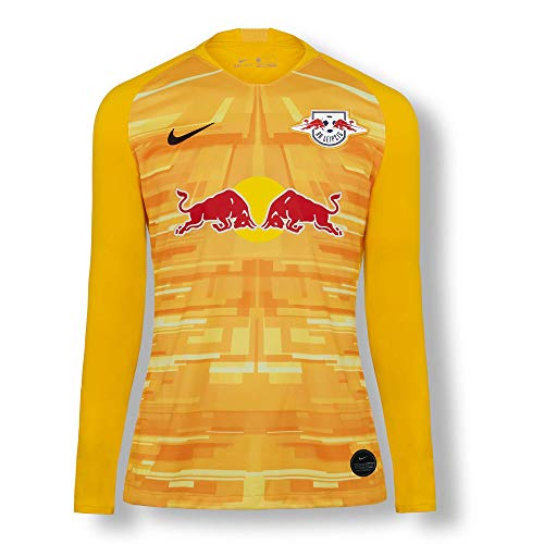 RB Leipzig Goalkeeper Trikot 19/20, Gelb Herren Small T Shirt, RasenBallsport Leipzig Sponsored by Red Bull Original Bekleidung & Merchandise