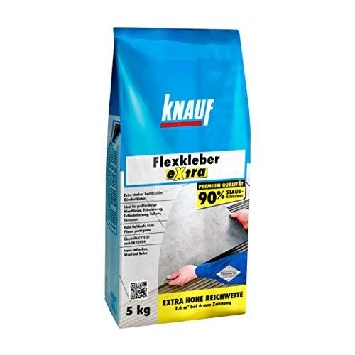 Knauf 201622 FLEXKLEBER EXTRA, zementgrau, 5 kg