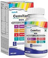 Healthvit Cenvitan Men Multivitamin & Multimineral with 24 Nutrients (Vitamins and Minerals) | Anti-Oxidants, Energy,...