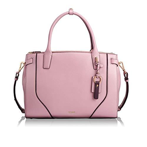 Tumi woman pink leather stanton kiran tote laptop shoulder hand bag