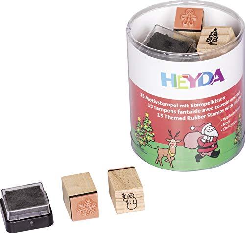 Heyda 204888480 Heyda 204888480 Stempel-Dose (Weihnachten) Motivgröße: ca. 1,5 x 1,5 cm