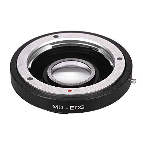 Docooler MD-EOS - Anillo adaptador de montura de objetivo con lente correctora para objetivo Minolta MD para Canon EOS EF