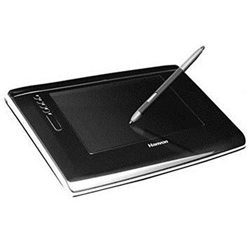 Hanvon Grafiktablett USB sw A6 batterielos drahtloser Stift Express Touch Tasten 1024 Stufen 5080LPI inkl. Schrifterk Software
