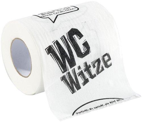 infactory Klopapier Witze: Toilettenpapier Witze, 1 Rolle (WC Rolle)