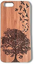 Birds in Flight Case for iPhone 5 or iPhone 5S or iPhone SE | iMakeTheCase Eco-Friendly Bamboo Wood Cover | Nature Tree Freedom