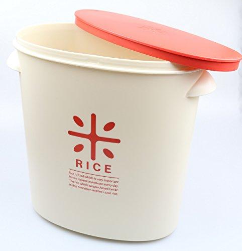パール金属日本製米びつ5kgレッド計量カップ付お米袋のままストックRICEHB-2167
