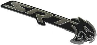 Mopar Dodge Charger SRT Hellcat Black and Silver Grille Nameplate New OEM
