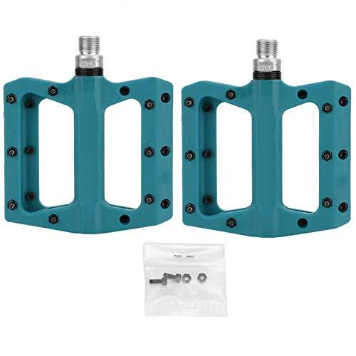 DAUERHAFT Pedal de rodamiento de Bicicleta de 1 par de plástico de Nailon de Alta Resistencia, para Bicicleta de Carretera de montaña MTB BMX Mejora la Comodidad de conducción(Blue)