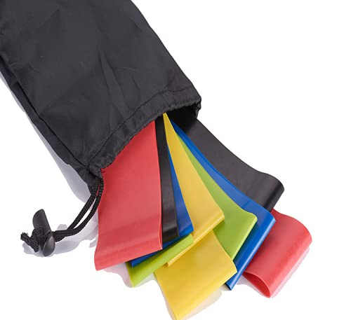 Anillo de tensión de látex de Yoga Multifuncional ecológico, Banda elástica, Banda de Resistencia a la Aptitud, cinturón de Yoga, Anillo de Resistencia elástica ((600 * 50) Five-Piece Suit Color)