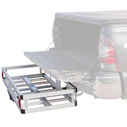 """Storage Basket Hauler 48"""" Aluminum 500lb Hitch Mount Cargo Carrier for Vehicle for Hauling Equipment, firewood, Coolers, Game, Camping Gear"""