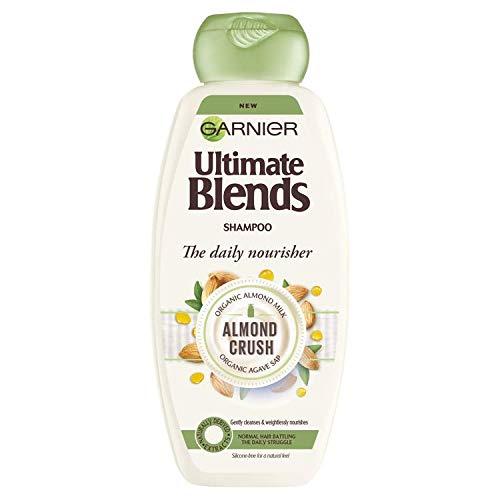 Ultimate Blends Garnier Shampooing cheveux normaux au lait d'amande et à l'agave 360 ml