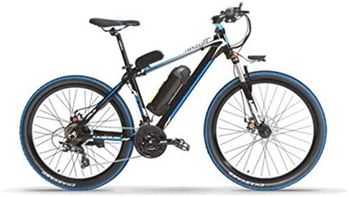XDHN Cuadro De Bicicleta Eléctrica Hecho De Aleación De Aluminio 48V10Ah Batería De Litio Ayuda con 70Kkm Adecuado para Hombres Y Mujeres, Azul