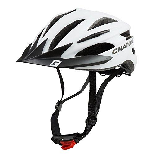 Cratoni Fahrradhelm Pacer, White matt - Visier schwarz, Gr. L-XL (58-62 cm)