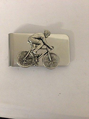 Emblema de peltre inglés para ciclista masculina PP-H en un impresionante clip de dinero