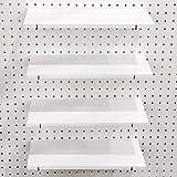 Pegboard Shelves with Steel Pegboard Brackets Pegboard Accessories Organizer Pegboard Hooks for Home,Garage,Nursery