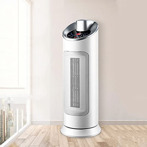 YXCKG Ventilador Calefactor Calentador De Cerámica 2 Calor Viento&Viento Natural, Calefactor Eléctrico Calentador Oscilante De 120 °, Temporizador De Control Remoto De 12 Horas (Color : White)