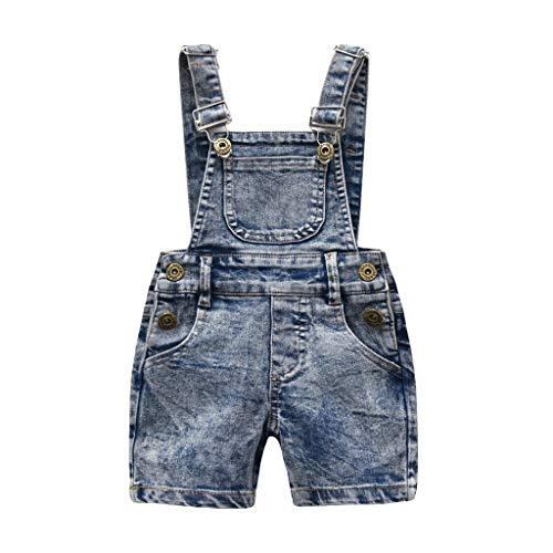 Generic JERFER Overall Sommer Kinder Kleinkind Kind ärmellose Hosenträger Denim Hosen Kleidung
