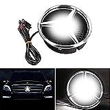 2016 Mercedes GLE Class Factory Wheels - Bearfire LED Emblem Logo Grid LED Badge Front Light For Mercedes Benz A/B/C/CLS/E/GLK/GL/R Series (white, not transparent grid)