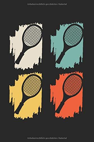 Tennis Retro Tennisspieler Spieler: Tennis & Tennisspieler Notizbuch 6'x9' Tennisspielerin Geschenk für Sport & Tennistrainer