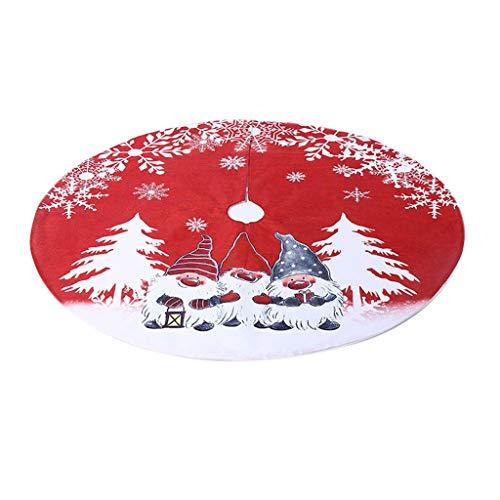 Firedancekid Weihnachtsbaum-Rock schwedischer Zwerg Tomte Ornament Teppich Bodenmatte Bodenabdeckung
