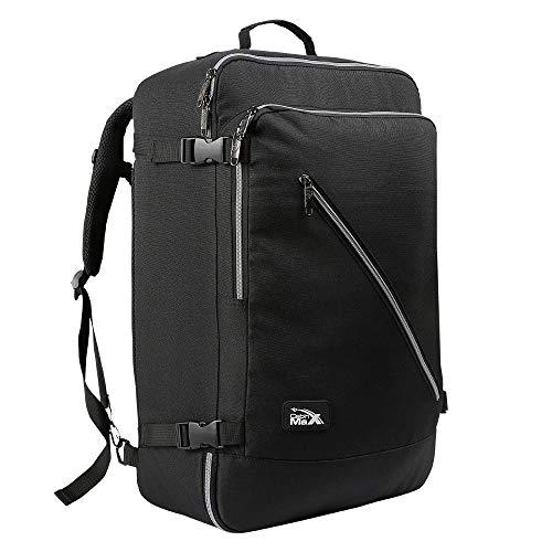 Canberra Cabin Backpack IATA compatibile - 55 x 35 x 20 cm (Nero)
