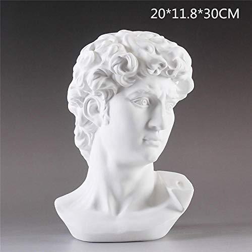 LOSAYM Estatua Decorativa Estatuas para Jardín Personaje Busto Estatua Yeso Artesanía Decoración del Hogar Accesorios