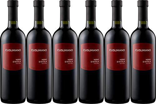 6x Nero d'Avola Sicilia 2019 - Weingut Cusumano, Sicilia - Rotwein