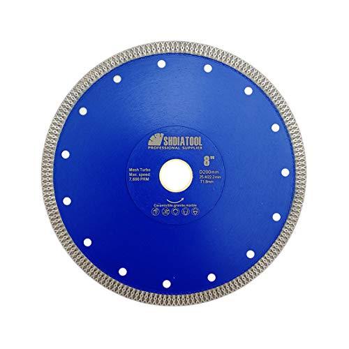 SHDIATOOL Disco Tronzador de Diamante 200mm con X Malla Turbo Hoja de Sierra para...